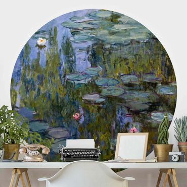 Runde Tapete selbstklebend - Claude Monet - Seerosen (Nympheas)