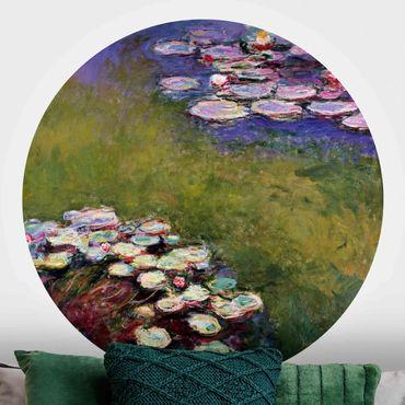 Runde Tapete selbstklebend - Claude Monet - Seerosen