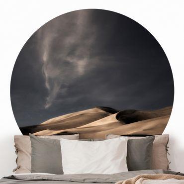 Runde Tapete selbstklebend - Colorado Dünen