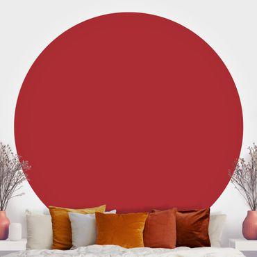 Runde Tapete selbstklebend - Colour Carmin