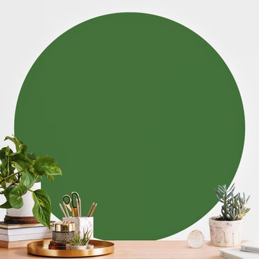 Runde Tapete selbstklebend - Colour Dark Green