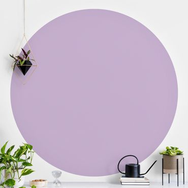 Runde Tapete selbstklebend - Colour Lavender