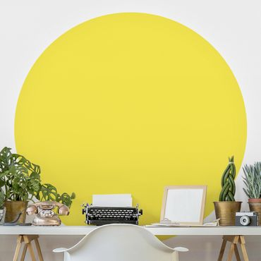 Runde Tapete selbstklebend - Colour Lemon Yellow