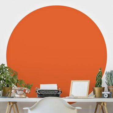 Runde Tapete selbstklebend - Colour Orange