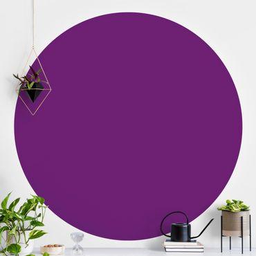 Runde Tapete selbstklebend - Colour Purple