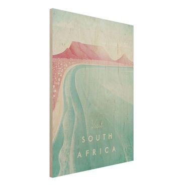 Holzbild - Reiseposter - Südafrika - Hochformat 4:3