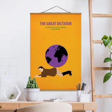 Stoffbild mit Posterleisten - Filmposter The great dictator - Hochformat 3:2