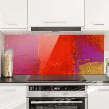 Spritzschutz Glas - Magenta Energy - Panorama - 5:2