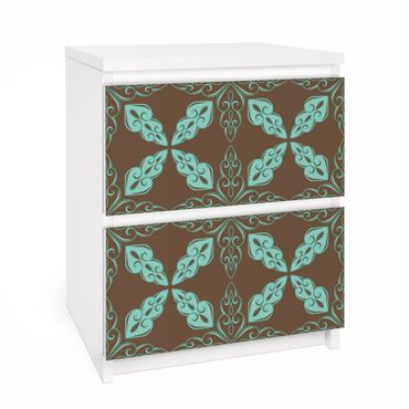 Möbelfolie für IKEA Malm Kommode - Selbstklebefolie Marokkanisches Ornament