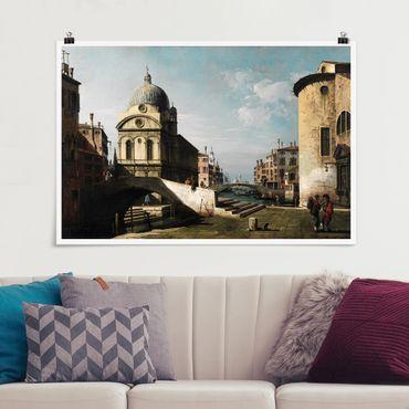 Poster - Bernardo Bellotto - Venezianisches Capriccio - Querformat 2:3