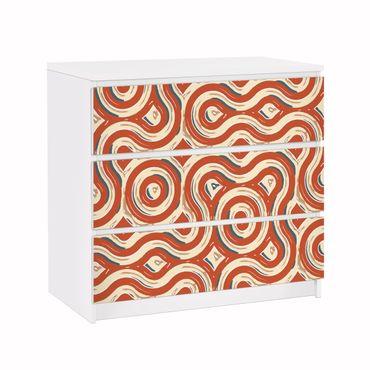 Möbelfolie für IKEA Malm Kommode - Klebefolie Abstrakte Ethno Textur