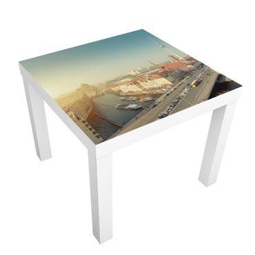 Möbelfolie für IKEA Lack - Klebefolie Berlin am Morgen