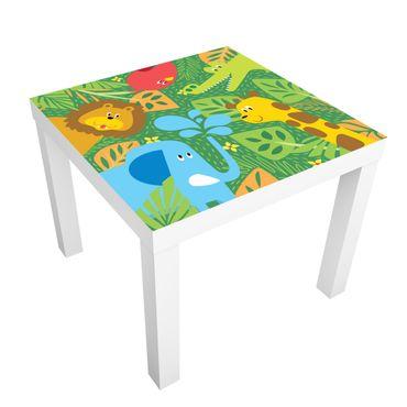 Möbelfolie für IKEA Lack - Klebefolie No.BP4 Zootiere