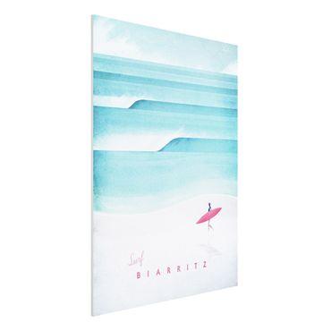 Forex Fine Art Print - Reiseposter - Biarritz - Hochformat 4:3