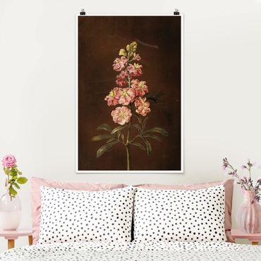 Poster - Barbara Regina Dietzsch - Eine rosa Garten-Levkkoje - Hochformat 3:2