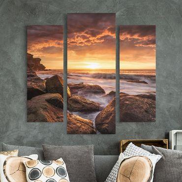 Leinwandbild 3-teilig - Cape Solander - Galerie Triptychon