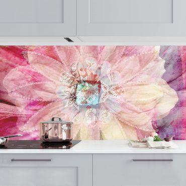 Küchenrückwand - Grunge Flower