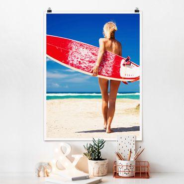 Poster - Surfergirl - Hochformat 3:4