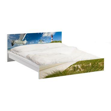 Möbelfolie für IKEA Malm Bett niedrig 180x200cm - Klebefolie Dune Breeze