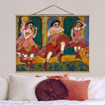 Stoffbild mit Posterleisten - Ernst Ludwig Kirchner - Czardastänzerinnen - Querformat 3:4