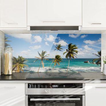 Spritzschutz Glas - Beach of Barbados - Panorama - 5:2