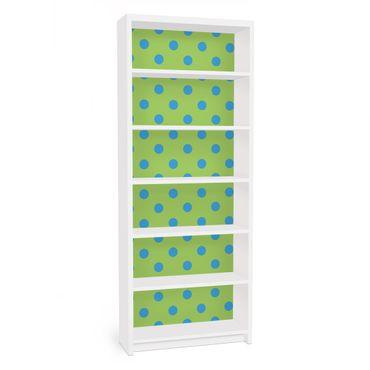 Möbelfolie für IKEA Billy Regal - Klebefolie No.DS92 Punktdesign Girly Grün