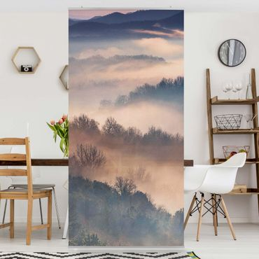 Raumteiler - Nebel bei Sonnenuntergang - 250x120cm
