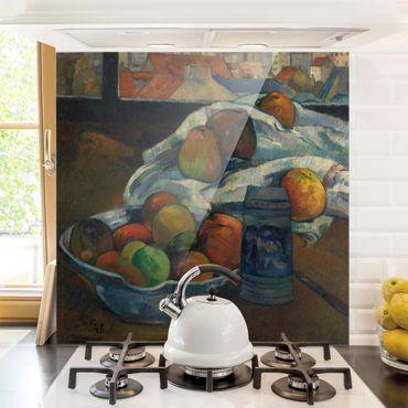 Glas Spritzschutz - Paul Gauguin - Obstschale - Quadrat - 1:1
