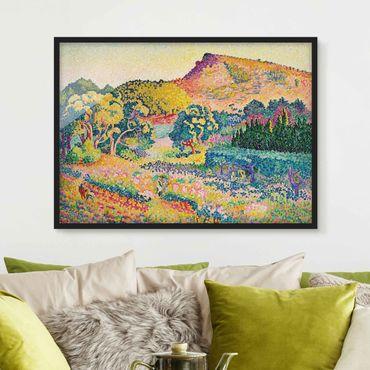 Bild mit Rahmen - Henri Edmond Cross - Landschaft mit Le Cap Nègre - Querformat 3:4