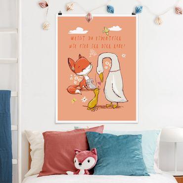 Poster - Weißt du eigentlich wie lieb ich dich habe - Hochformat 3:4