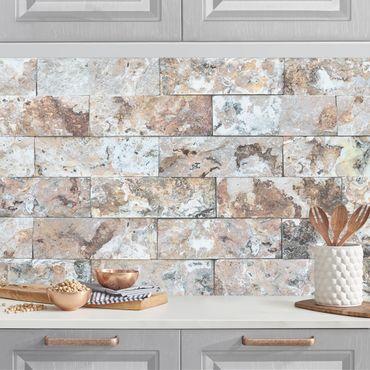 Küchenrückwand - Naturmarmor Steinwand