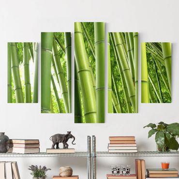 Leinwandbild 5-teilig - Bamboo Trees