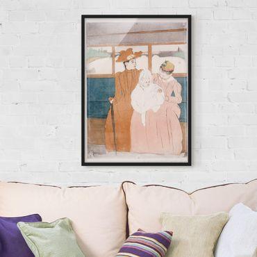 Bild mit Rahmen - Mary Cassatt - Im Omnibus - Hochformat 3:4