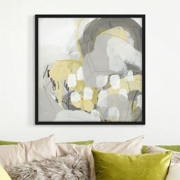 Bild mit Rahmen - Zitronen im Nebel II - Quadrat 1:1