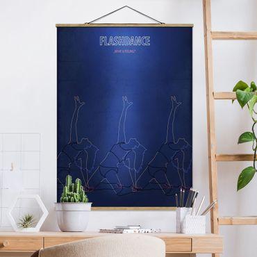Stoffbild mit Posterleisten - Filmposter Flashdance - Hochformat 4:3