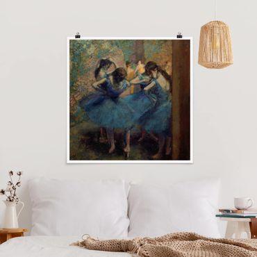 Poster - Edgar Degas - Blaue Tänzerinnen - Quadrat 1:1