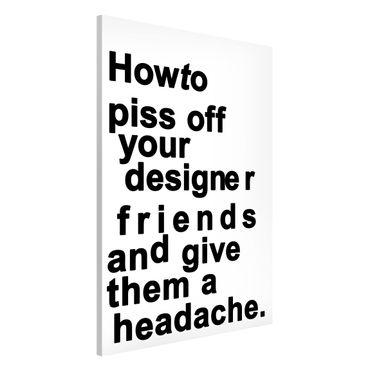 Magnettafel - Designers Headache - Memoboard Hochformat 3:2