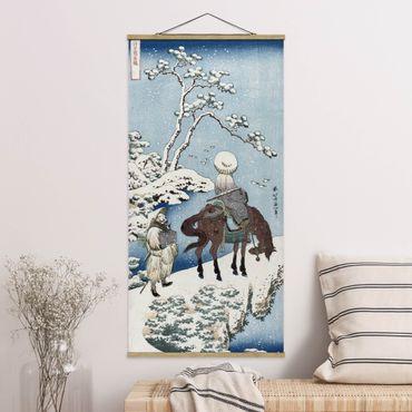 Stoffbild mit Posterleisten - Katsushika Hokusai - Der chinesische Dichter - Hochformat 2:1