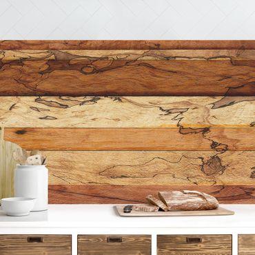Küchenrückwand - Woody Flamed