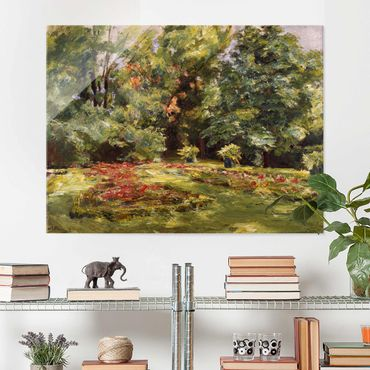 Glasbild - Max Liebermann - Blumenterrasse im Wannseegarten - Querformat 3:4