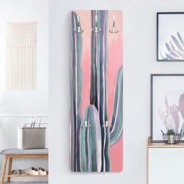Garderobe - Kaktus auf Rosa I