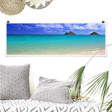 Poster - Paradise Beach - Panorama Querformat