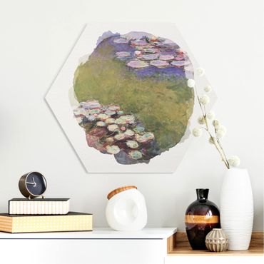 Hexagon Bild Forex - Wasserfarben - Claude Monet - Seerosen