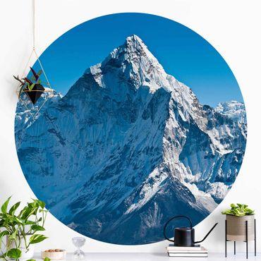 Runde Tapete selbstklebend - Der Himalaya