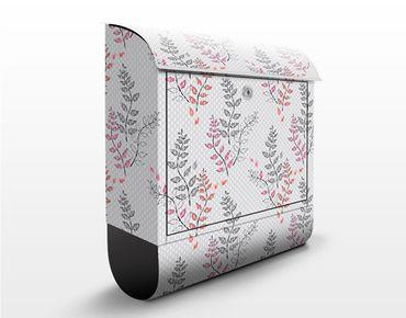 Design Briefkasten Ast Ornament - Briefkasten Grau