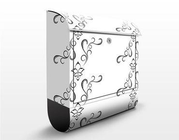 Design Briefkasten - Weißer Orient - Muster Schwarz-Weiß