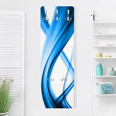 Design Garderobe - Blue Element - Weiß Blau