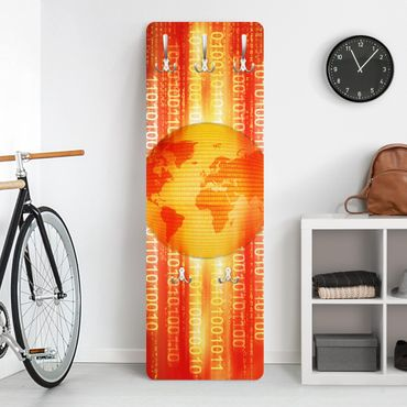 Design Garderobe - Digital Planet - Orange Gelb