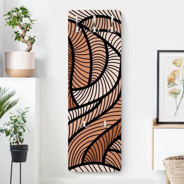 Design Garderobe - Holzschnitt in braun - Braun
