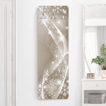 Design Garderobe - Schneeglitzern - Beige